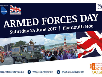 Get marching onto Plymouth Hoe for tomorrow's Armed Forces Day