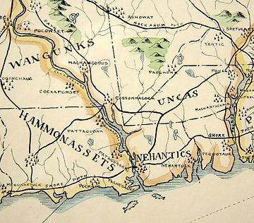 1625 Map native american territories Dra