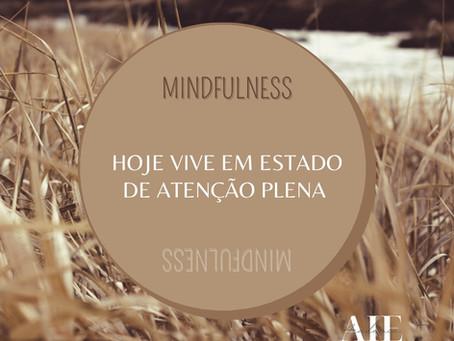 HOJE VIVE EM ESTADO DE ATENÇÃO PLENA – MINDFULNESS