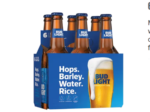 BUD LIGHT 6PK-12OZ BTLS