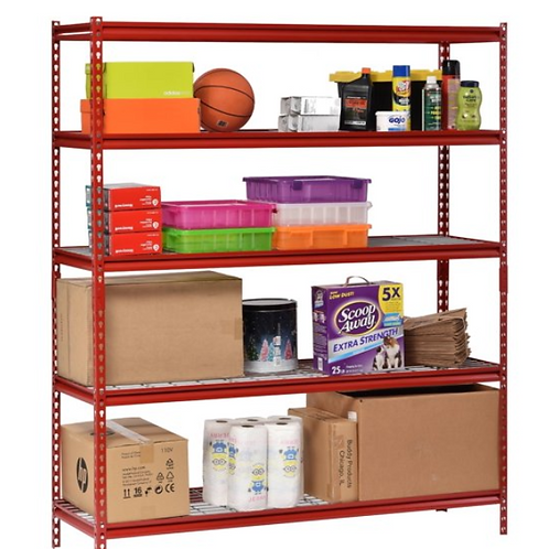 "Muscle Rack 60""W x 24""D x 72""H 5-Shelf Steel Shelving Unit, 2500 lb Capacity,"