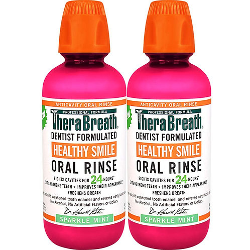 TheraBreath 24 Hour Healthy Smile Dentist Formulated Oral Rinse, (2 Pack)