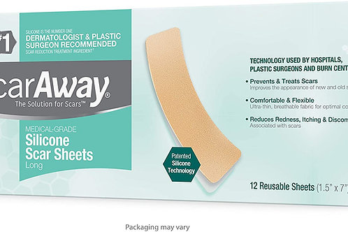 ScarAway Advanced Skincare Long Silicone Scar Sheets