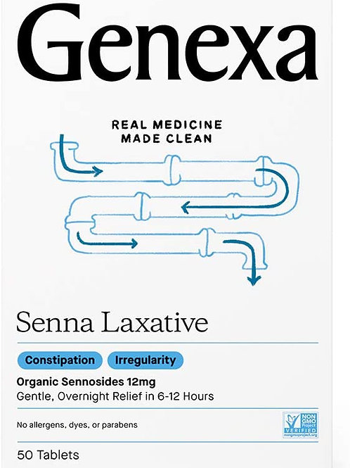 Genexa Senna Laxative, 50 Tablets