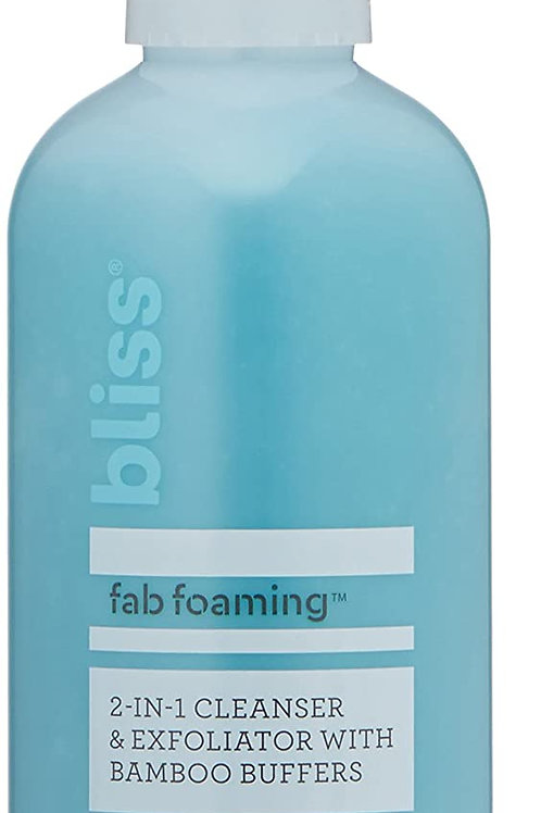 Bliss Fab Foaming 2-In-1 Cleanser & Exfoliator with Bamboo Buffers