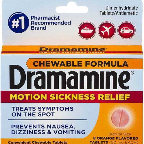 Dramamine Chewable Formula Motion Sickness Relief, Orange (6 Pack)