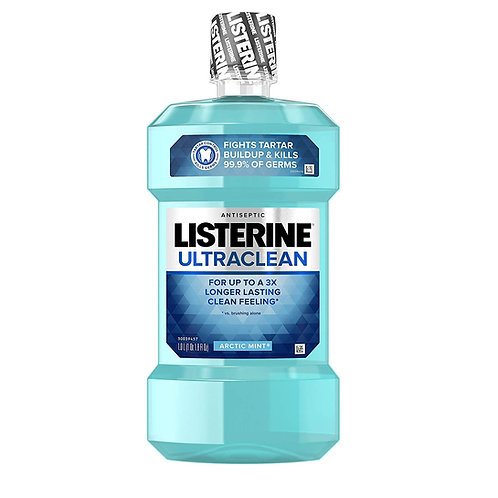 Listerine Ultraclean Oral Care Antiseptic Mouthwash, Artic Mist Flavor