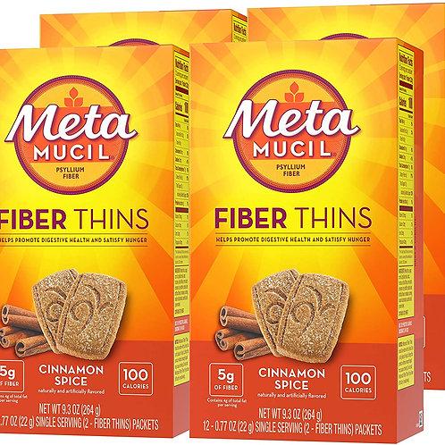 Metamucil Fiber Thins Psyllium Husk Fiber Supplement