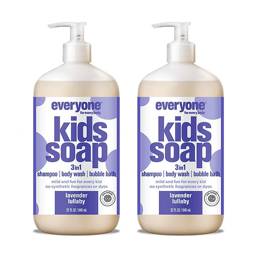 Everyone 3-in-1 Kids Soap, Lavender Lullaby (2 Pack)
