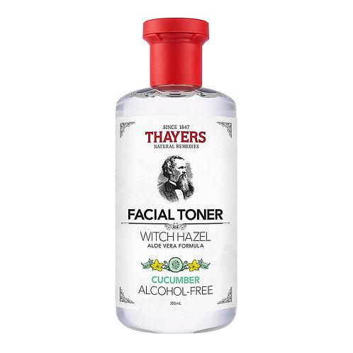 THAYERS Alcohol-Free Witch Hazel Facial Toner with Aloe Vera Formula, Cucumber