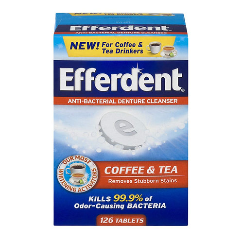 Efferdent Denture Cleanser Tablets, 126 Count