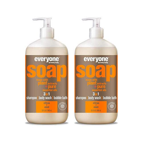 Everyone 3-in-1 Soap, Citrus & Mint (2 Pack)