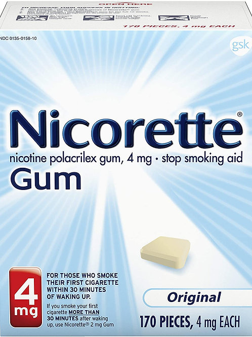 Nicorette 4mg Nicotine Gum to Quit Smoking, Unflavored (170 Count)