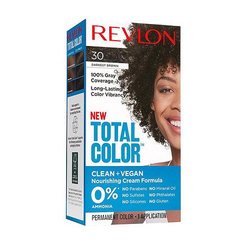 Revlon Total Color Permanent Hair Color, Clean and Vegan, Darkest Brown