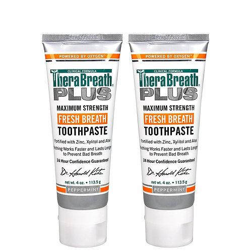 TheraBreath Plus Maximum-Strength Toothpaste (2 Pack)
