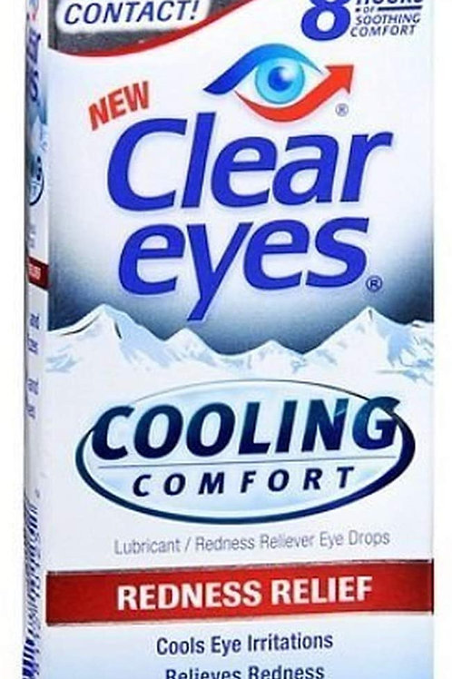 Clear Eyes Cooling Comfort Redness Relief Eye Drops (3 Pack)