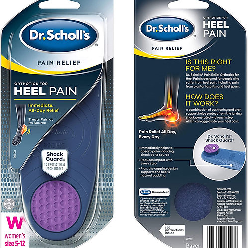 Dr. Scholl's Pain Relief Orthotics for Heel for Women's size 5-12