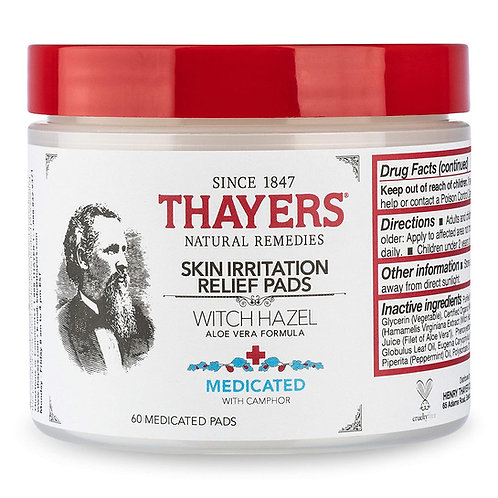 THAYERS Medicated Aloe Vera Topical Pain Relief Pads