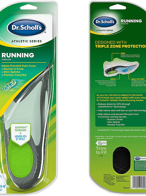 Dr. Scholl's Running Insoles for Men Size 10.5-14