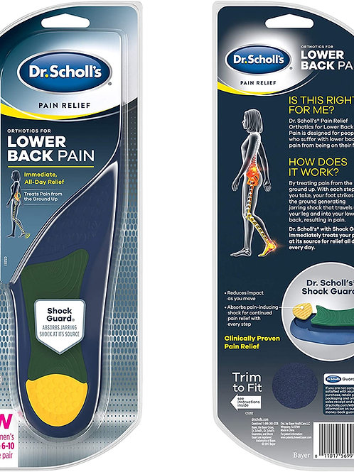 Dr. Scholl's Pain Relief Orthotics for Lower Back Pain for Women Size 6-10