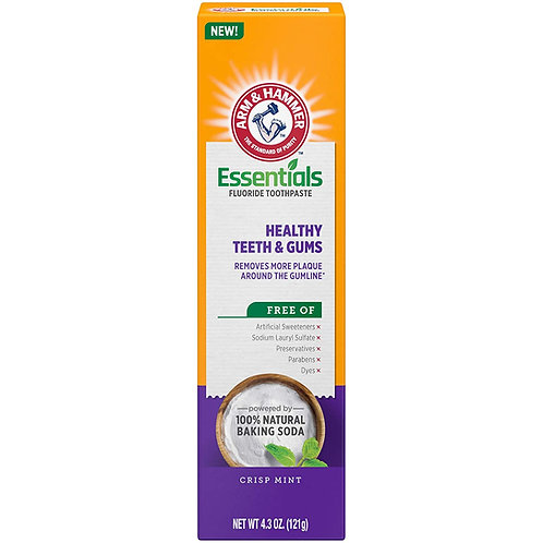ARM & HAMMER Essentials Healthy Teeth & Gums Fluoride Toothpaste (4 Pack)