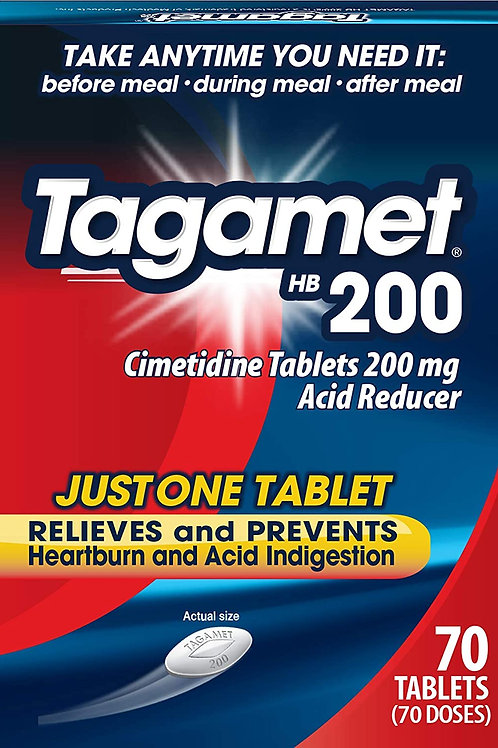 Tagamet HB 200 mg Cimetidine Acid Reducer and Heartburn Relief