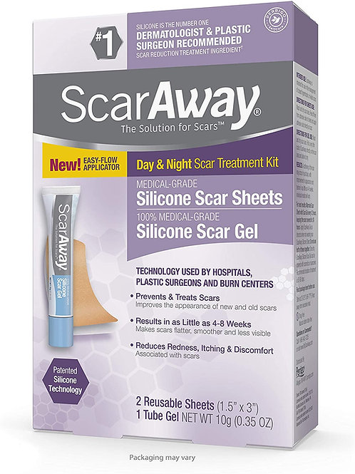 ScarAway Medical-Grade Silicone Scar Sheets and 100% Silicone Scar Gel