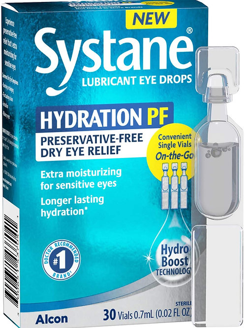 Alcon Systane Hydration Preservative-Free Lubricant Eye Drops, 30-Count Vials