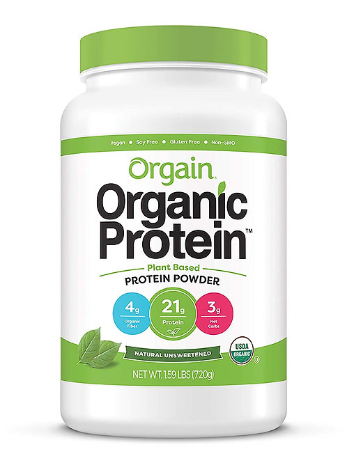 Orgain Organic Plant Based Protein Powder, Natural Unsweetened
