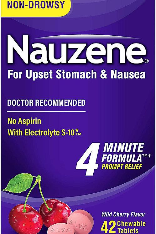 Nauzene Upset Stomach & Nausea Chewable Tablets Flavor, Wild Cherry (42 Count)