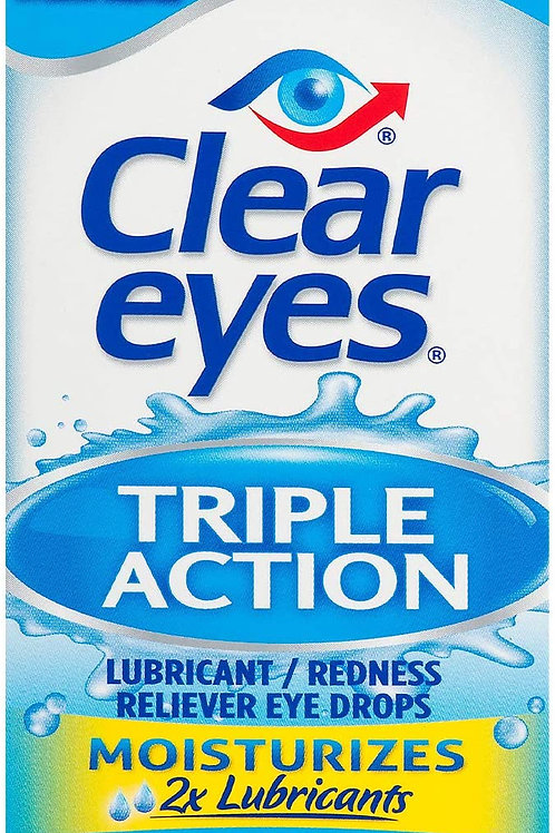 Clear Eyes Triple Action Lubricant/Redness Relief Eye Drops