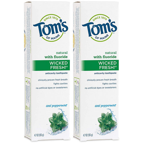 Tom's of Maine Natural Wicked Fresh Fluoride Toothpaste (2 Pack)