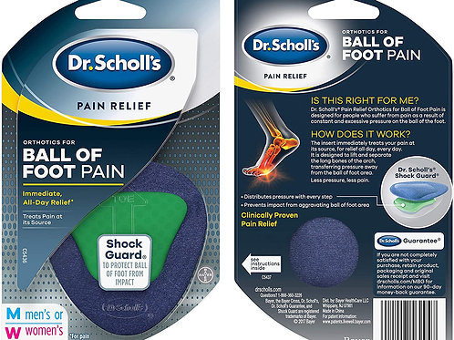 Dr. Scholl's Pain Relief Orthotics for Ball of Foot Pain