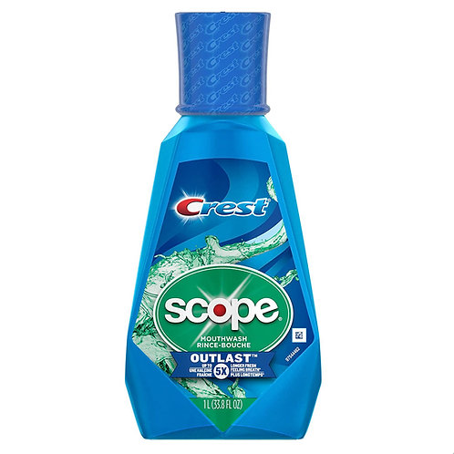 Crest Scope Outlast Mouthwash Long Lasting Peppermint