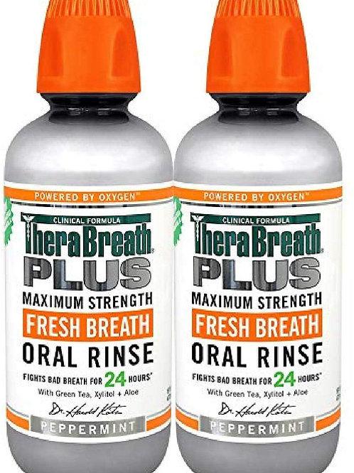TheraBreath Plus Maximum-Strength Oral Rinse (2 Pack)