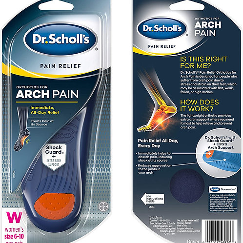 Dr. Scholl's ARCH Pain Relief Orthotics, 1 Pair (Women's 6-10)