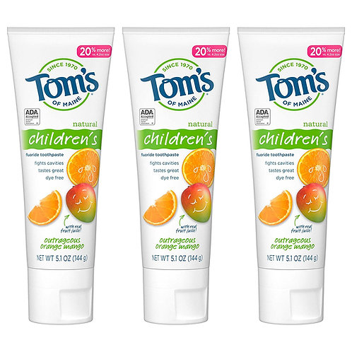 Tom's of Maine Natural Children's Fluoride Toothpaste (3 Pack)