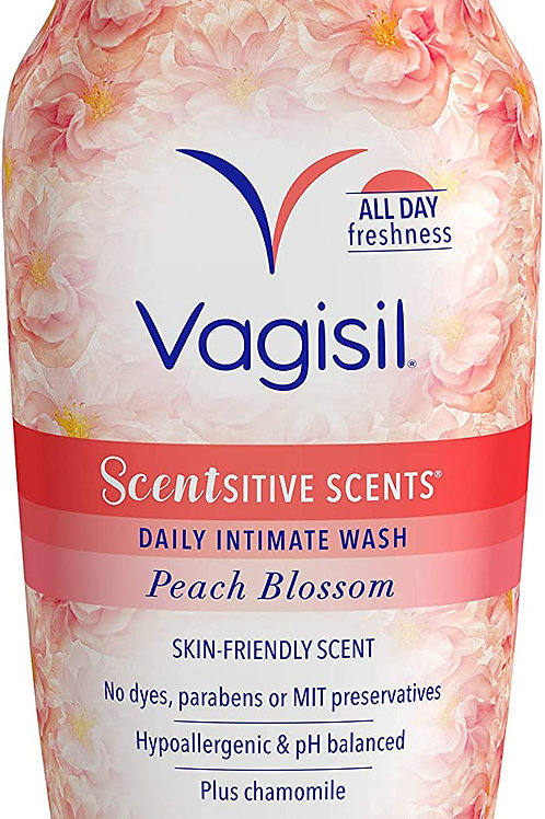 Vagisil Scentsitive Scents Daily Intimate Feminine Wash for Women, Peach Blossom