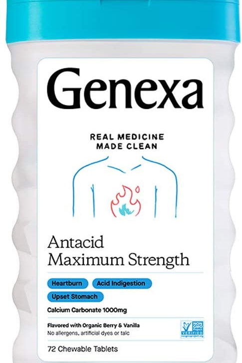 Genexa Antacid Maximum Strength, 72 Tablets