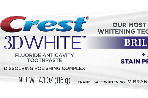 Crest 3D White Brilliance Vibrant Peppermint Teeth Whitening Toothpaste (3-Pack)