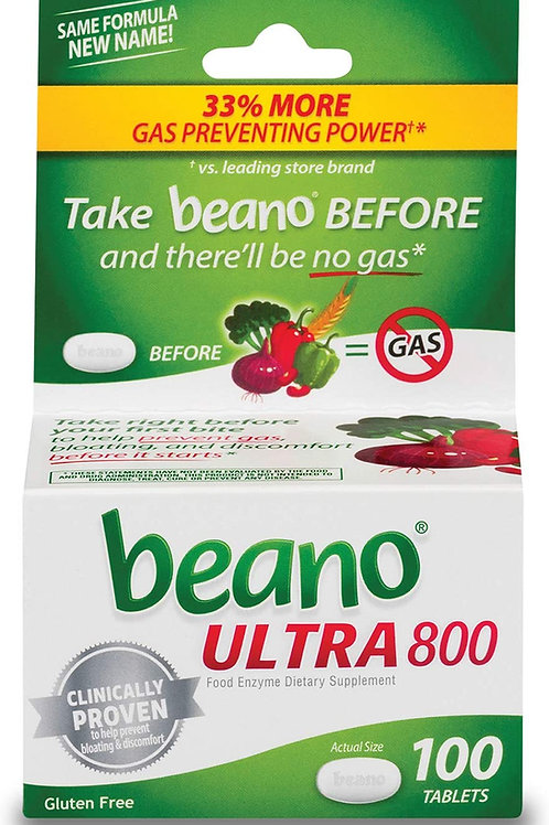 Beano Ultra 800 Gas Prevention Tablets (100 Count)