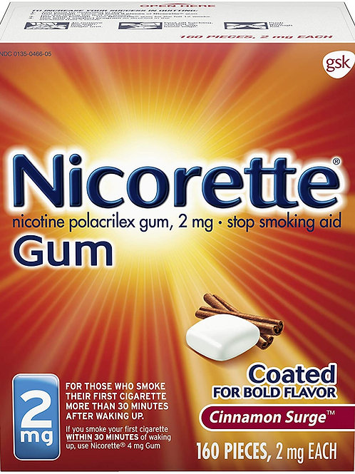 Nicorette 2mg Nicotine Gum to Quit Smoking, Cinnamon Surge (160 Count)