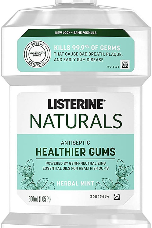 Listerine Naturals Antiseptic Mouthwash, Fluoride-Free Oral Care