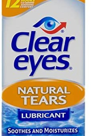 Clear Eyes Natural Tears Lubricant Eye Drops