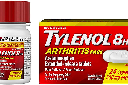 Tylenol 8 Hour Arthritis Pain Tablets with Acetaminophen for Joint Pain, 24-ct