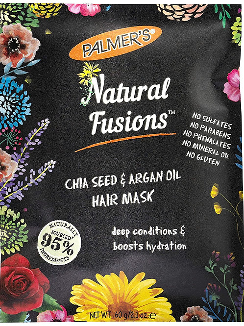 Palmer's Natural Fusions Chia Seed and Argan Oil Hair Mask, 2.1 Ounces (12 Pack)