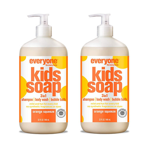 Everyone 3-in-1 Kids Soap, Orange Squeeze (2 Pack)