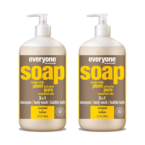 Everyone 3-in-1 Soap, Coconut & Lemon (2 Pack)