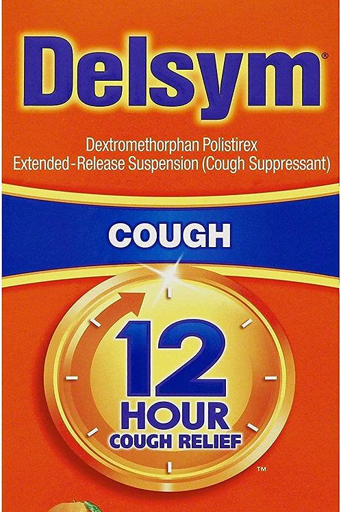 Delsym Adult 12 Hour Cough Relief Liquid Orange Flavor