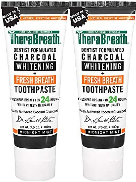 TheraBreath Fresh Breath Toothpaste, Charcoal Whitening (2 Pack)